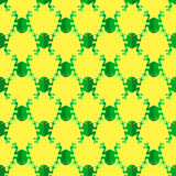 Seamless Frog Pattern. Animal Background Stock Photo