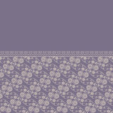 Seamless frolal lace border pattern Stock Photography