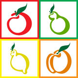 Seamless fruit background Stock Images