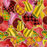 Seamless fruit color background Stock Photos