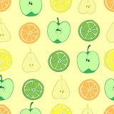 Seamless fruit cuts Stock Images