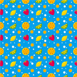 Seamless Fruit Juice pattern Royalty Free Stock Photography