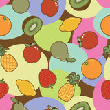 Seamless fruit pattern Stock Photo