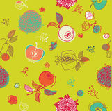 Seamless fruit pattern Stock Image