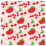 Seamless fruit pattern Royalty Free Stock Images