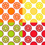 Seamless Fruit Pattern. In different color sets Royalty Free Stock Photos