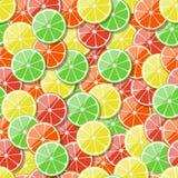 Seamless fruit pattern background. Vector illustration. Stock Photos