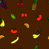 Seamless fruit pattern Stock Photos