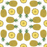Seamless fruit pattern of pineapple Royalty Free Stock Images