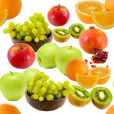 Seamless fruit pattern. In white background Royalty Free Stock Photography