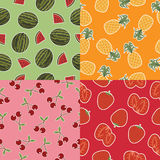 Seamless fruit patterns Royalty Free Stock Photos