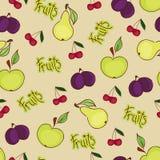 Seamless fruit wallpaper Royalty Free Stock Photo