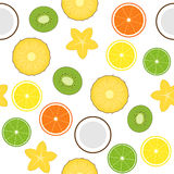 Seamless with fruits Stock Images