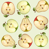 Seamless from fruits vector illustration