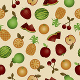 Seamless fruits Royalty Free Stock Photo
