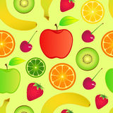Seamless fruits background Royalty Free Stock Photography