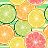 Seamless fruits background Stock Photography