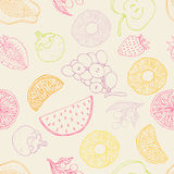 Seamless fruits background Royalty Free Stock Image