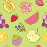 Seamless fruits background Stock Photo
