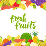 Seamless fruits horizontal border royalty free illustration