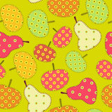Seamless fruits patchwork  ornament Royalty Free Stock Images