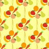 Seamless fruits pattern Stock Photography
