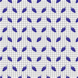 Seamless fruits vector pattern, background with berries on the checkered paper. Stock Image