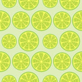 Seamless fruits vector pattern, bright background with limes over light green backdrop Royalty Free Stock Photography