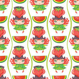 Seamless Fruity patterns series Stock Images