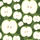Seamless Fruity Wallpaper Stock Photo