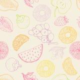 Seamless fruktbakgrund Royaltyfri Bild