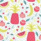 seamless fruktmodell royaltyfri illustrationer