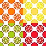 seamless fruktmodell vektor illustrationer