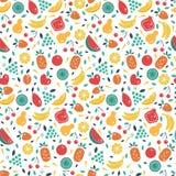 seamless fruktmodell Royaltyfri Fotografi