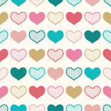 Seamless fun heart wallpaper background Stock Image