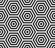 Seamless fun hexagonal mesh wallpaper pattern Stock Photo