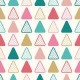 Seamless fun triangle wallpaper background Royalty Free Stock Photos
