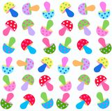 Seamless fungus pattern Stock Photo