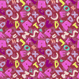 Seamless funky alphabet texture pattern Stock Image