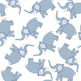 Seamless Funny Cartoon Elephant Stock Images