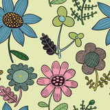 Seamless funny floral pattern Royalty Free Stock Photos
