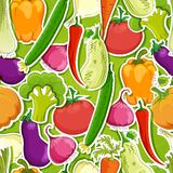 Seamless funny vegetable background Royalty Free Stock Image