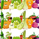 Seamless funny vegetable background royalty free illustration