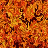 Seamless fur or flame pattern background Stock Photo