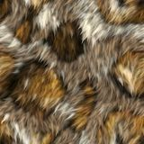 Seamless Fur Texture. A completely seamless soft fur animal print fabric stock image
