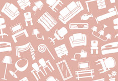 Seamless furniture background Stock Photography