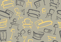 Seamless furniture background Royalty Free Stock Image