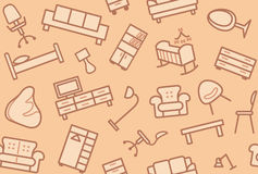 Seamless furniture background Royalty Free Stock Photography