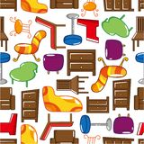 Seamless Furniture pattern Stock Photo