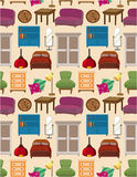 Seamless furniture pattern Royalty Free Stock Photography